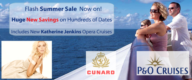 Katherine Jenkins P&O Cruises New Deals 2013