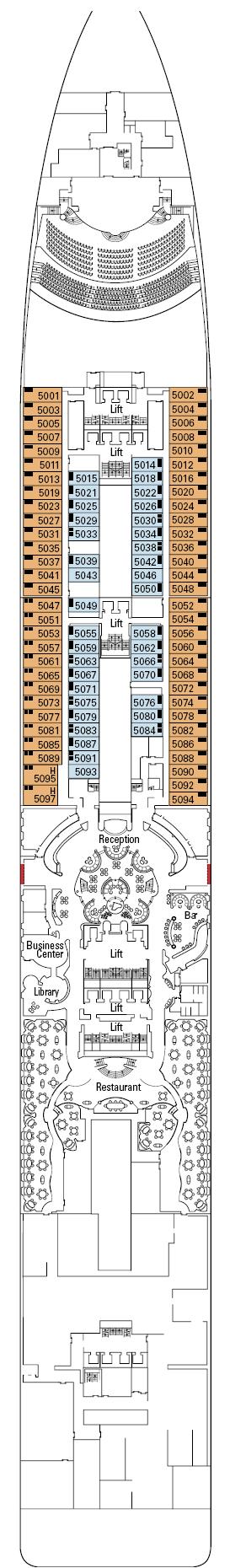 Msc divina deck plans deck 0 for Msc divina floor plan