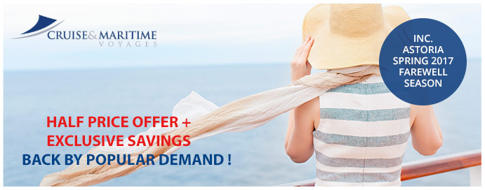 Cruise and Maritime Half price offer