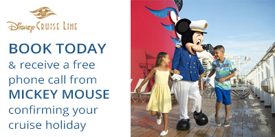 Disney cruise line mickey mouse phone call confirmation