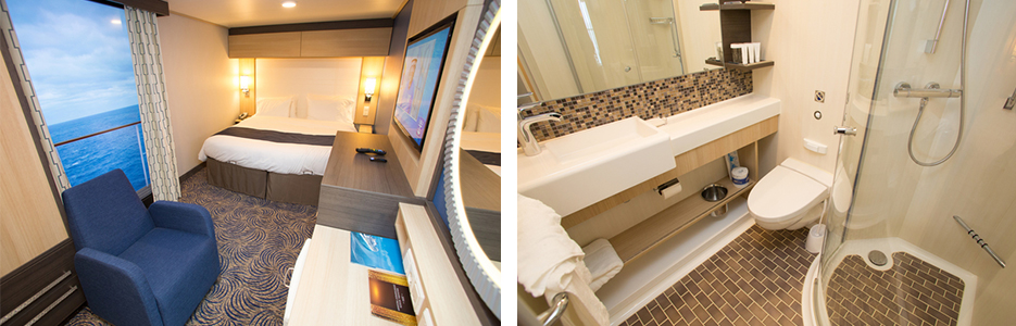 Each Interior Stateroom Includes Either A Royal King Size Bed Or Two Twin Beds Private Bathroom With Shower Vanity Area TV And Telephone