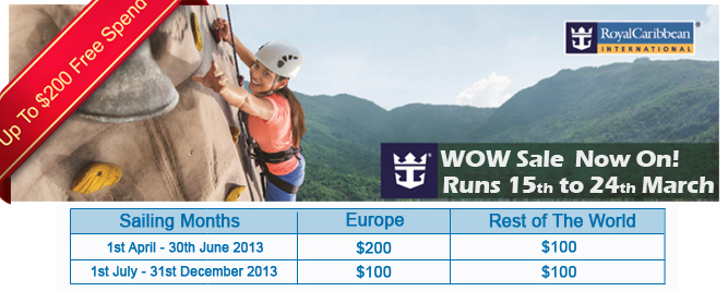Royal Caribbean Cruise Deals Sale